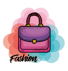 female fashion handbag icon vector image