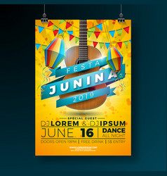 festa junina party flyer with vector image