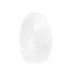 fingerprint white silhouette vector image