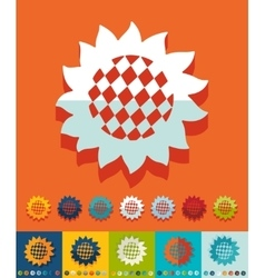 Flat design sunflower vector image