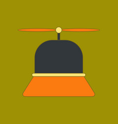 Flat icon on background kids toy helicopter vector