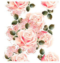 Flower pattern with peony and ornament vector