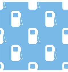 Gas station seamless pattern vector image