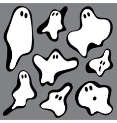 Ghosts symbols vector