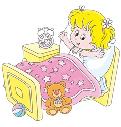 Girl waking up vector image