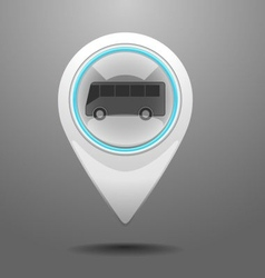 Glossy Bus Icon vector image