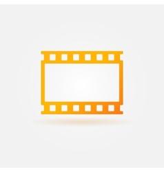 Gold film strip logo vector image