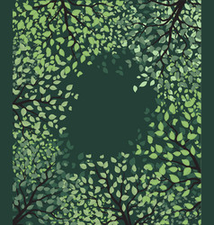 green trees with leaves vector image
