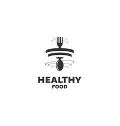 Healthy food logo designs vector