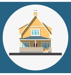 home building flat icon vector image
