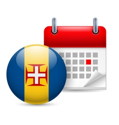 Icon of National Day in Madeira vector