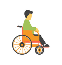 Incapacitated faceless person on wheelchair vector
