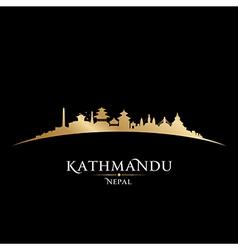 Kathmandu Nepal city skyline silhouette vector image