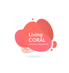 living coral trend color of the year 2019 vector image