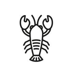 Lobster outline icon crustacean symbol healthy vector