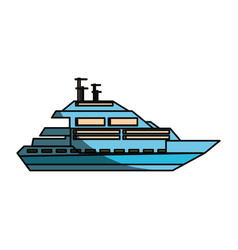 Luxury yacht isolated vector
