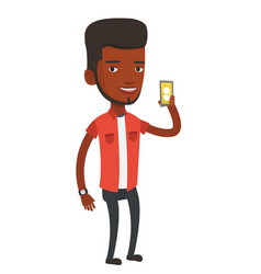man holding ringing mobile phone vector image