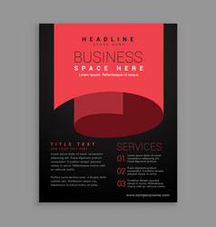 minimal red curl page style brochure design vector image