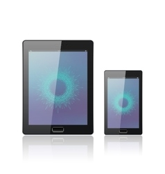 Modern digital tablet PC with mobile smartphone vector image