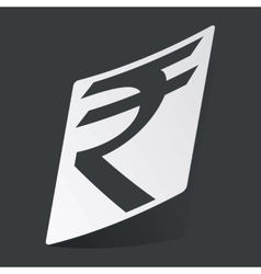 Monochrome rupee sticker vector