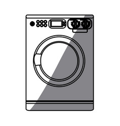 Monochrome silhouette of washing machine vector
