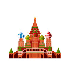 Monument russian architecture famous orthodox vector