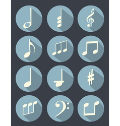 Music note flat design vector