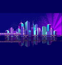 night city ocean vector image