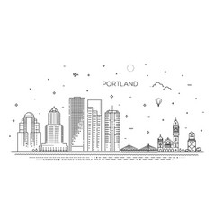 oregon portland line skyline vector image