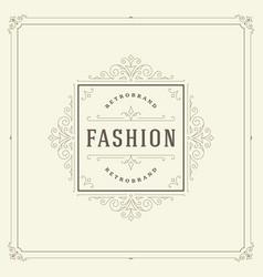 Ornament logo design template flourishes vector
