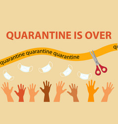 Pandemic end quarantine is over end lockdown vector