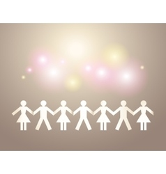 Paper crowd on holiday background vector image