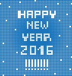pixel happy 2016 vector image
