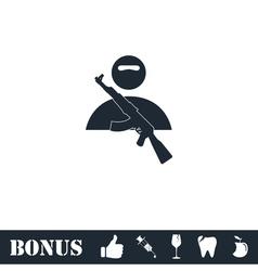 Raider icon flat vector