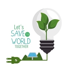 save the world concept icon vector image
