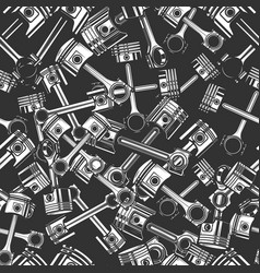 seamless pattern with automobile pistons in vector image