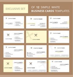 set of 12 baseball bat creative busienss card vector image