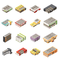 Shopping mall icons set vector