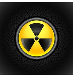 sign of radiation black vector image