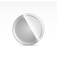 Silver coin isolated on transparent in different vector