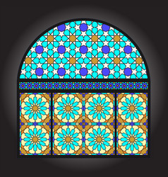 Stained glacc window vector