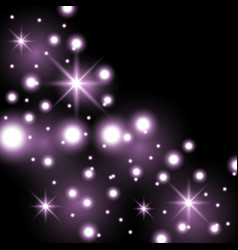 Star way with sparkles purple color vector