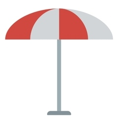 Striped beach umbrella vector image
