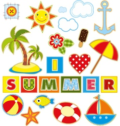 Summer Set Textile Element vector