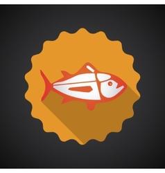 Summer Travel Sea Fish flat icon vector image vector image