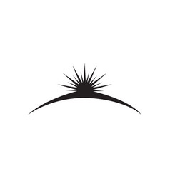 Sun logo and symbols star icon web vector
