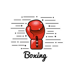symbol boxing play icon vector image
