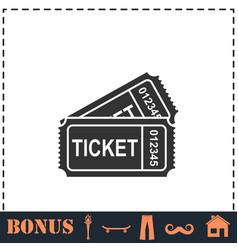 ticket icon flat vector image