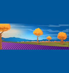 wide panorama rural countryside in spring vector image