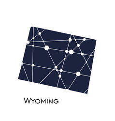 wyoming state map vector image